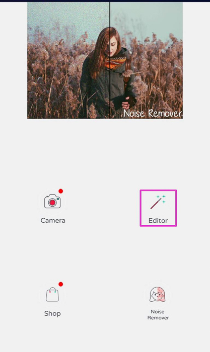 Screenshot of photo editing app PhotoSoft