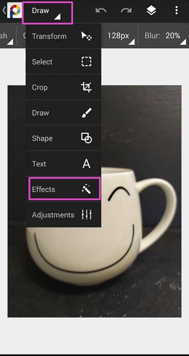 Screenshot of photo editing app PhotoSuite 4 Free