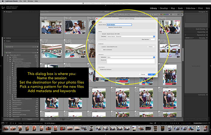 Illustrative photo of the dialogue box in Lightroom