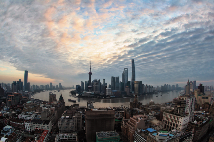 Photo of the metropolitan cityscape of Shanghai