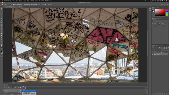 "Screenshot of the ""add media"" option in Photoshop"