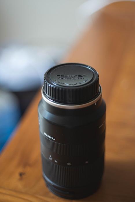 Still life photo of a Tamron lens highlighting Tamron lens abbreviations