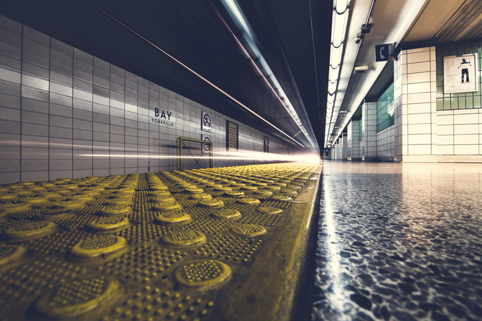 Photo of a subway station