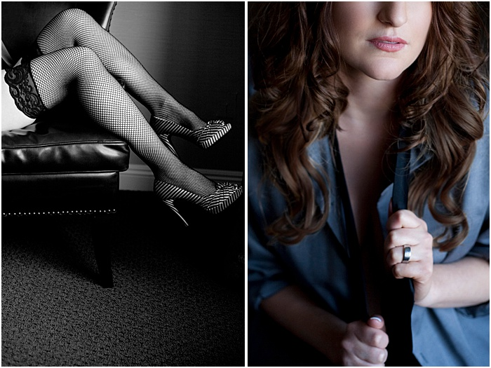 Close-up boudoir photos of a woman