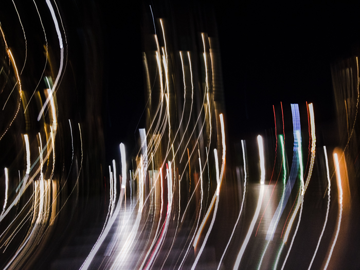 Abstract photo with light painting