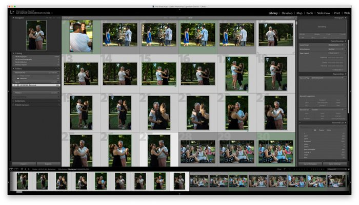 a screenshot showing how to stack images in Lightroom