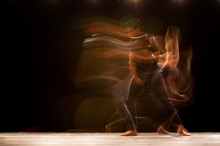 Motion blur photo of a dancer