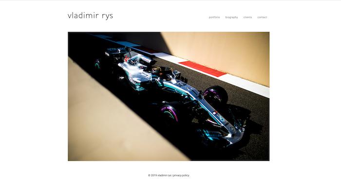 Photo of a F1 race car by Vladimir Rys