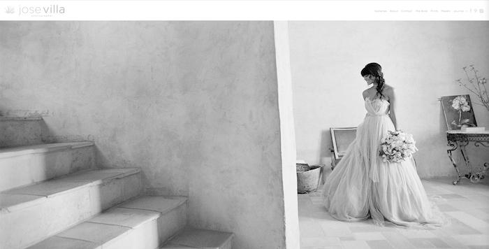 A black and white photo of a bride by Jose Villa