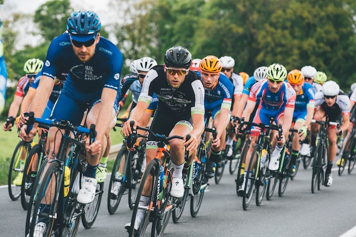 Photo of a lot of cyclists