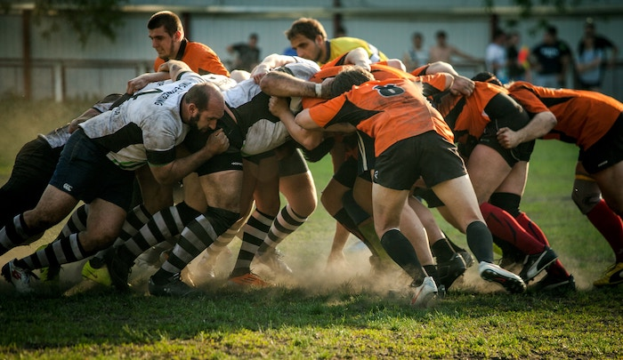 Photo of rugby players during a match