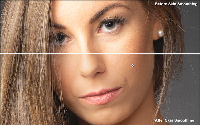 Illustrative photo of the smoothing tool in Lightroom