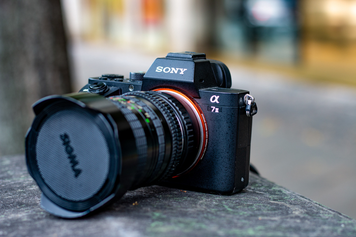 A Sony camera with a Sigma lens.