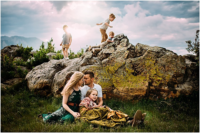 A family photo in the nature by Stormy Solis