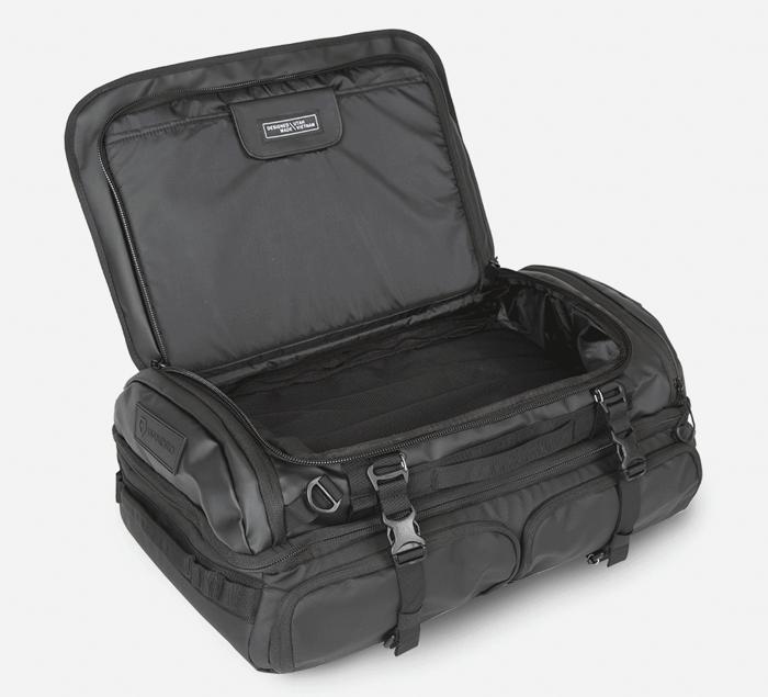 An open view of the WANDRD Hexad Access Duffel Bag