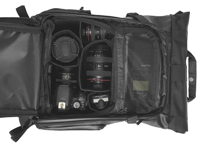 The medium camera cube in the PRVKE bag