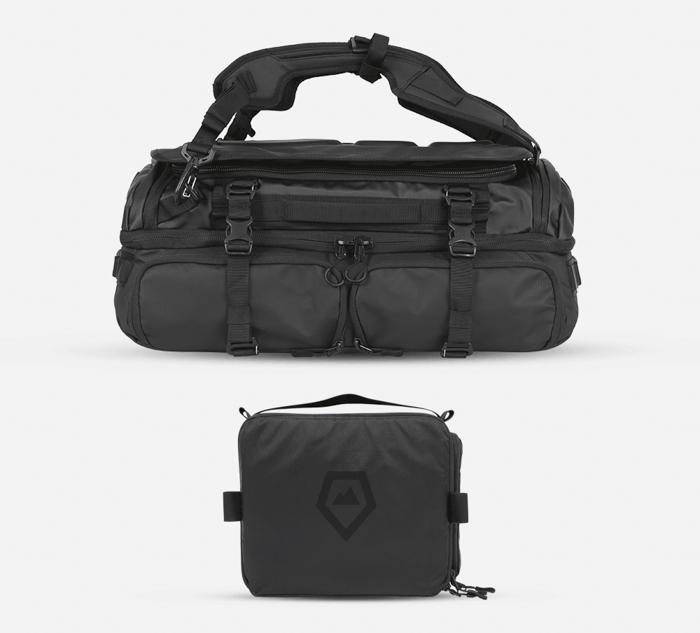 The WANDRD Hexad Access Duffel Bag and medium camera cube