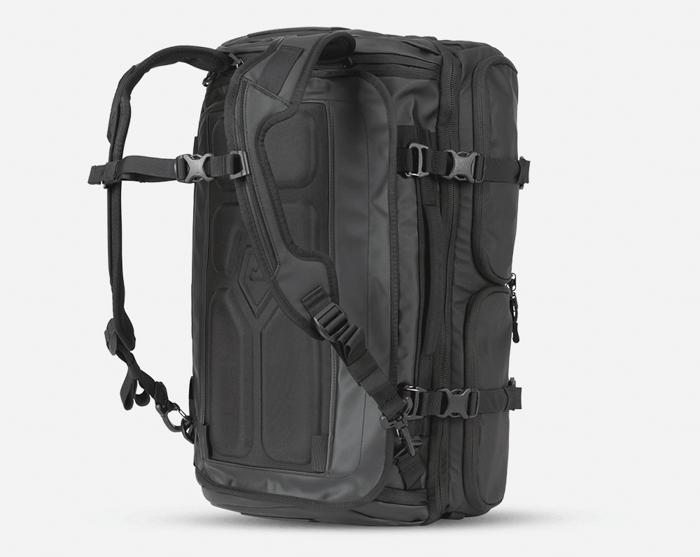 A back view of the WANDRD Hexad Access Duffel Bag