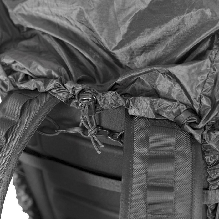 The RainFly for the The WANDRD Hexad Access Duffel Bag in use