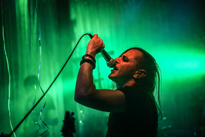 Photo of the singer of a metal band
