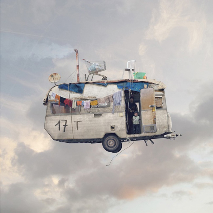 Flying Houses 14 by Laurent Chehere