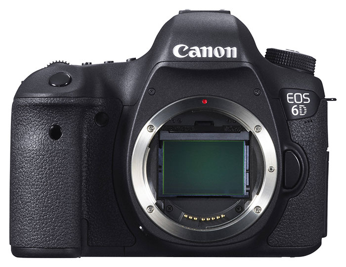 The Canon 6D camera body from the front