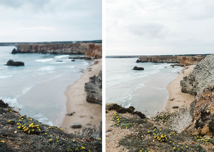 Photos of the samee landscape with and without bokeh effect