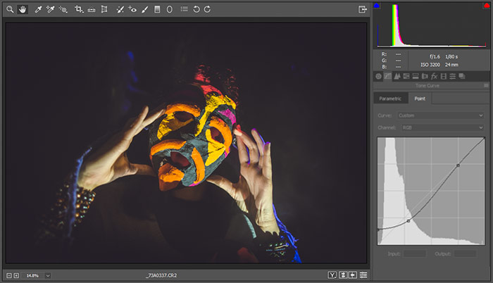 a screenshot showing how to add a matte effect to photos in photoshop