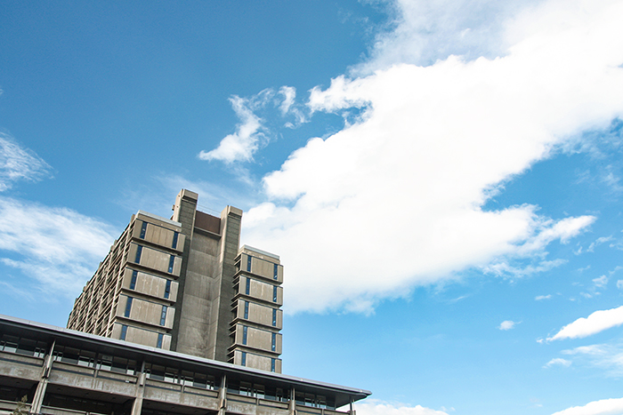 Photo of a building under the blue sky