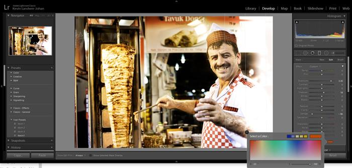 Screenshot of Adobe Lightroom sliders