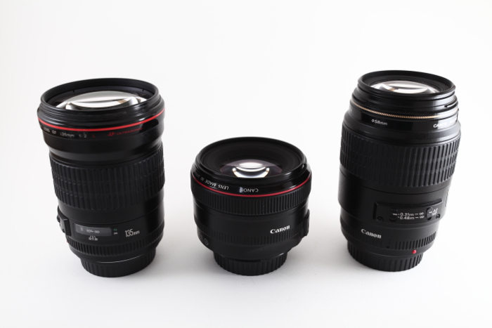 Three lenses for the full-frame cameras