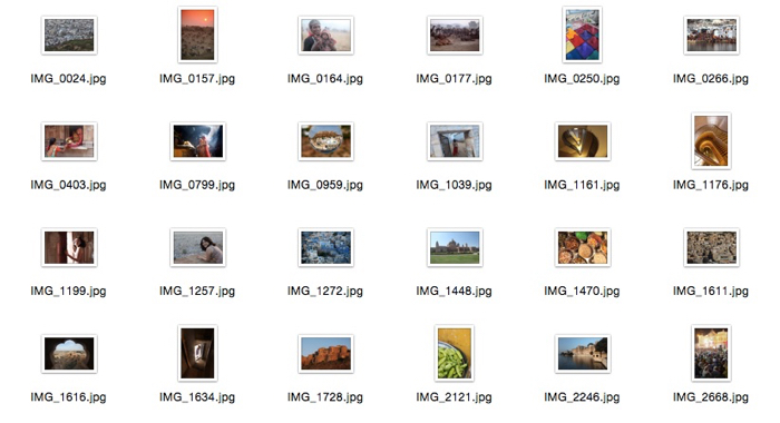 Illustrative photo of jpeg files