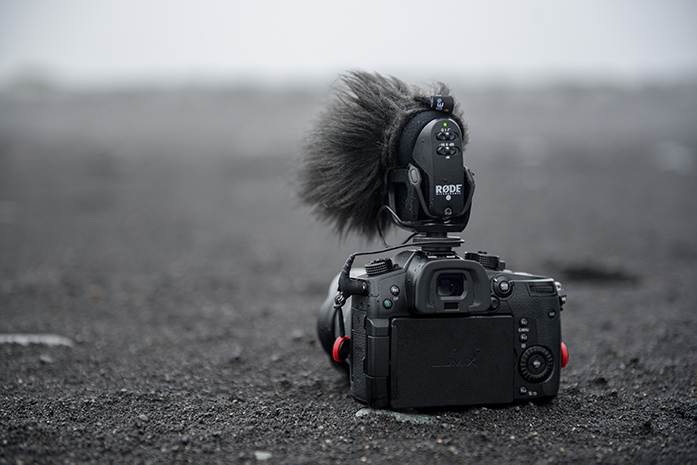A camera with a microphone
