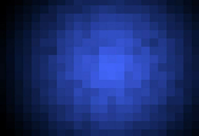 blue pixelated image