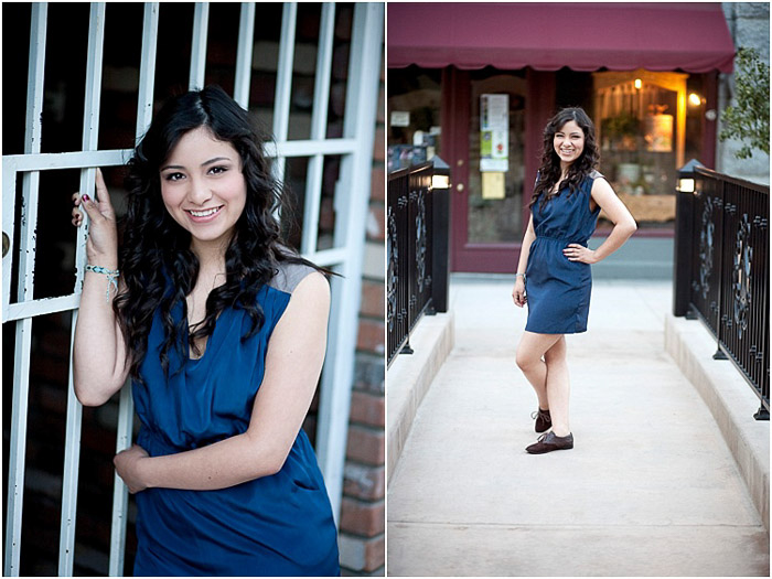 diptych portrait of a highschool senior posing outdoors