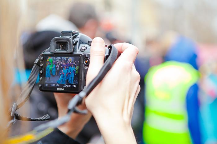 an outdoor event being shot through a digital camera
