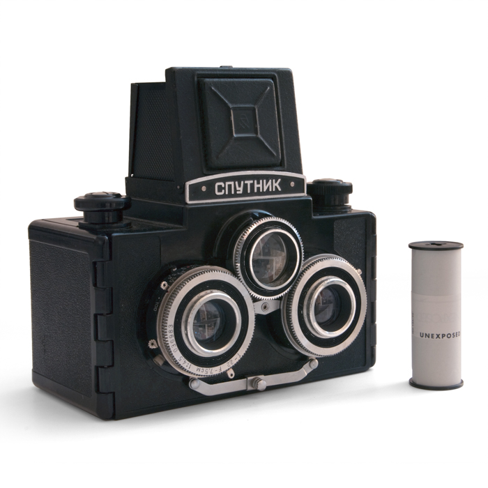 Photo of a Sputnik film camera
