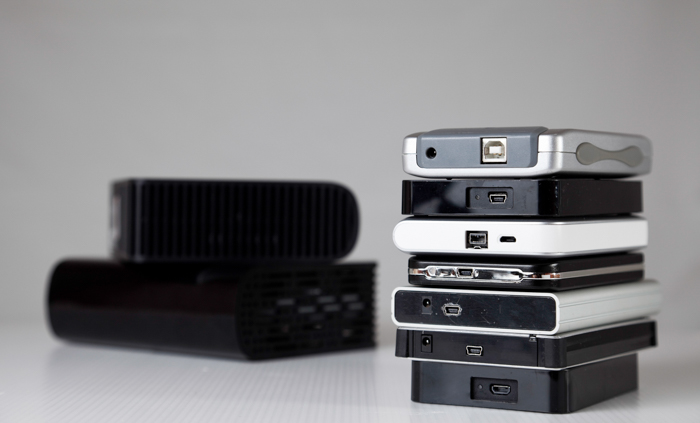 Photo of external hard drives