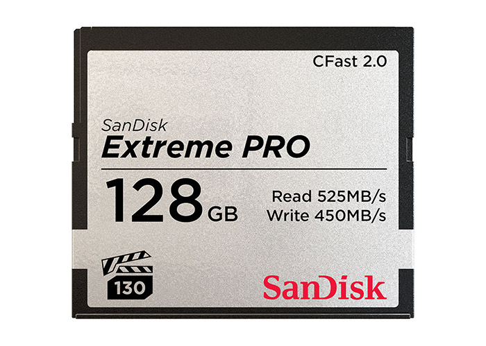 A Sandisk CFast card