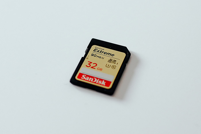 A Sandisk memory card