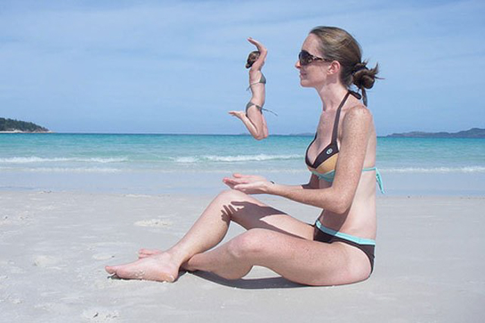 Photo of two women at the beach