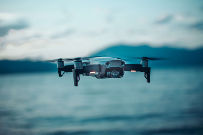 Photo of a flying drone
