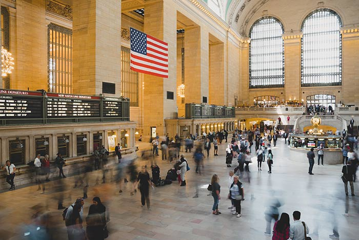 Grand Central Station with a bustle of people