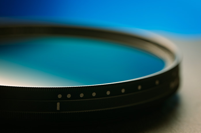 Close up of the side of an ND filter
