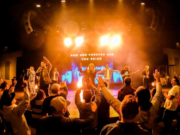 A concert photography shot