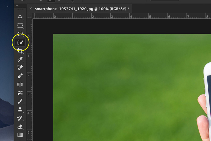 a screenshot showing how to remove background in Photoshop