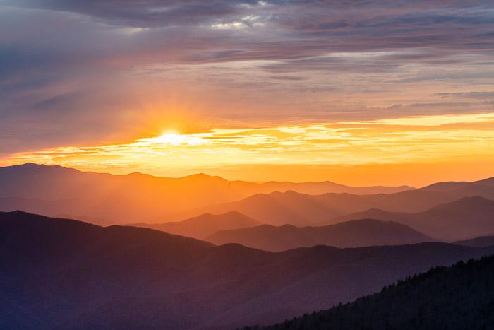 Sunrise image taken with HDR setting