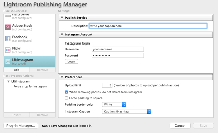 Lightroom Publishing Manager