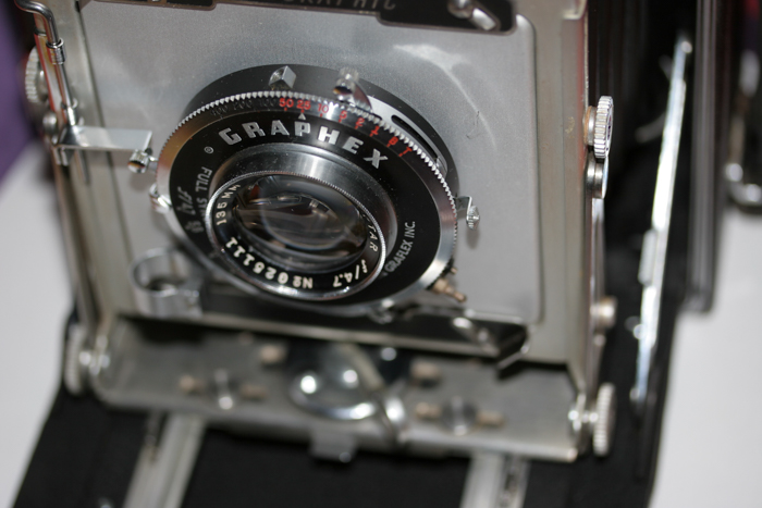Close-up photo of an expensive camera