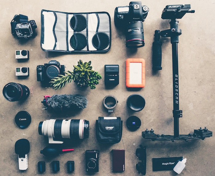 Photo of different camera gear